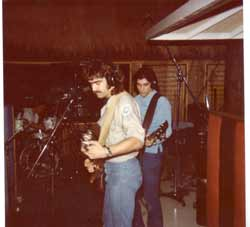 Dann Link, Scott Kohler, and Richard Connor at The Villiage Recorder 1979