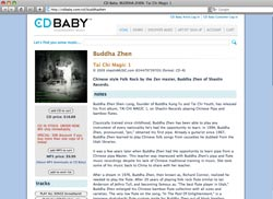 CD Baby has Buddha Zhen CDs